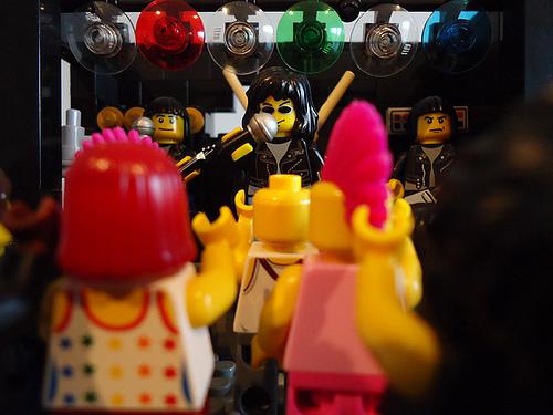 lego ramones punk rock concert