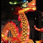 lit chinese dragon