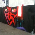 Darth Maul skate park mural