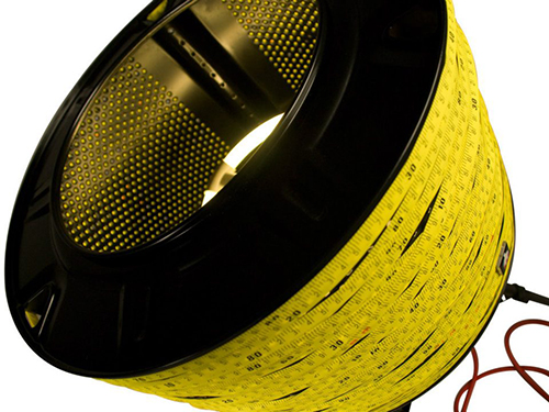 Measuring tape lamp