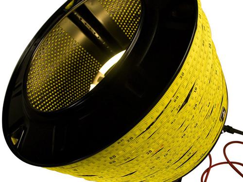 Measuring tape lamp