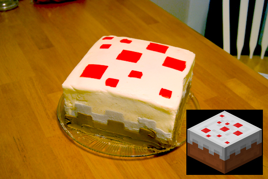Geek food recipe have your dose of minecraft cake and eat it too minecraft fondant cake forumfinder Gallery