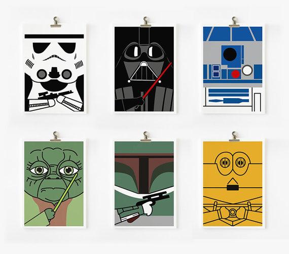 more loopz star wars art prints