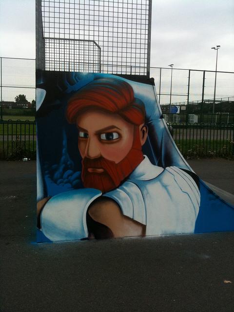 Obi-Wan skate park mural