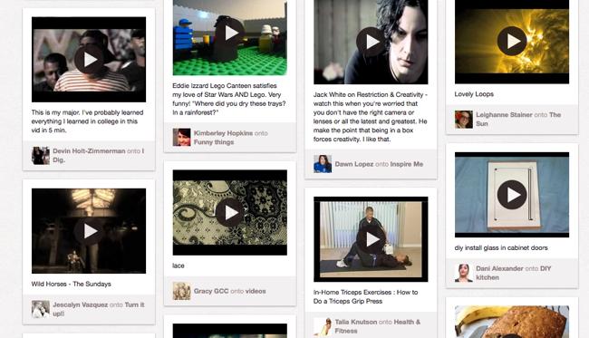 Pinboard videos