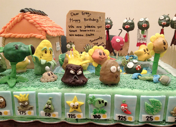 plants vs zombies party cake