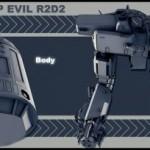 r2-d2 3d model 2