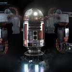 r2-d2 3d model 3