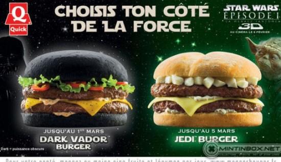 """""""Star Wars"""" burgers"""