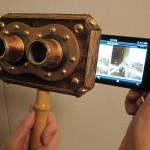 steampunk iphone 3d stereoscope viewer 3