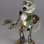 steampunk nelson found object robot