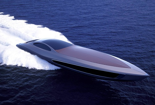 super yacht and car
