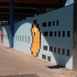 8-bit gaming metro station