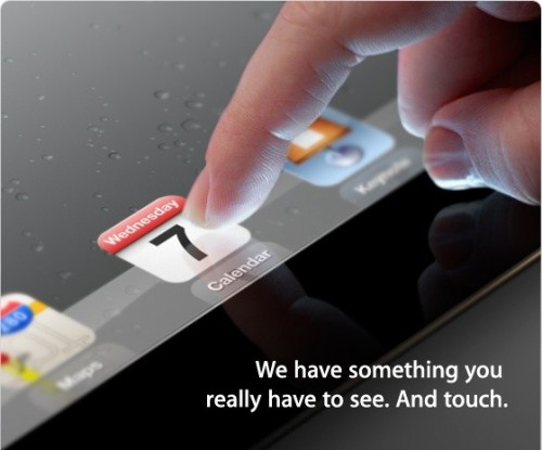 Apple iPad 3 Event Flyer Image
