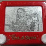 Chewie and Han Etch A Sketch