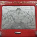Etch a Sketch Hulk