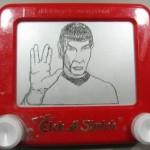 Etch a sketch Spock