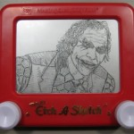 Joker etch a sketch