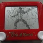 Spiderman Etch a Sketch
