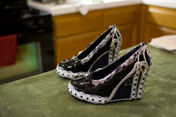 These Vintage Steampunk Lace And Jeweled Heels With Remote Control LED  Lights Are Available For Sale On Etsy By HotAirBallonRide. Thatu0027s Right,  These Shoes ...