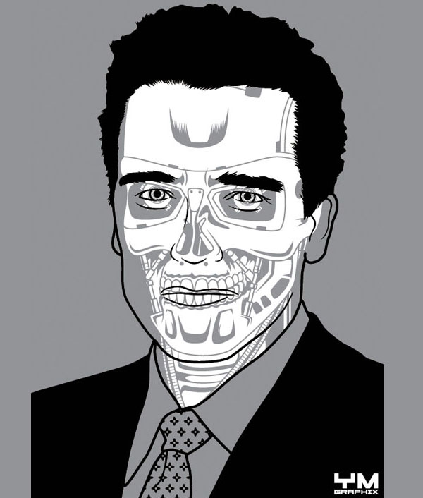arnold terminator android anatomy