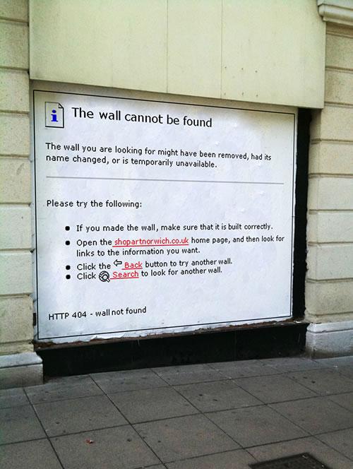 error 404 wall not found