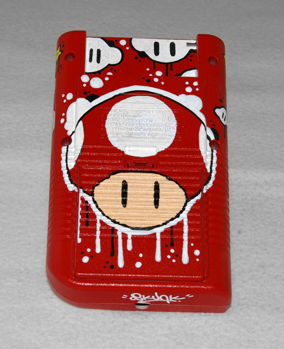 custom game boy mario paint job