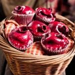 human heart cupcakes