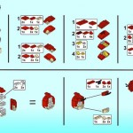 LEGO Red Angry Bird diagram