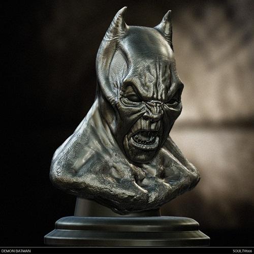scary demon batman sculpture
