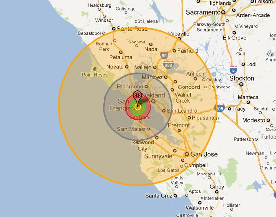 Tsar Bomba detonated over San Francisco