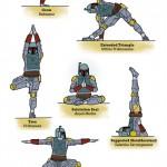Star Wars yoga Boba Fett