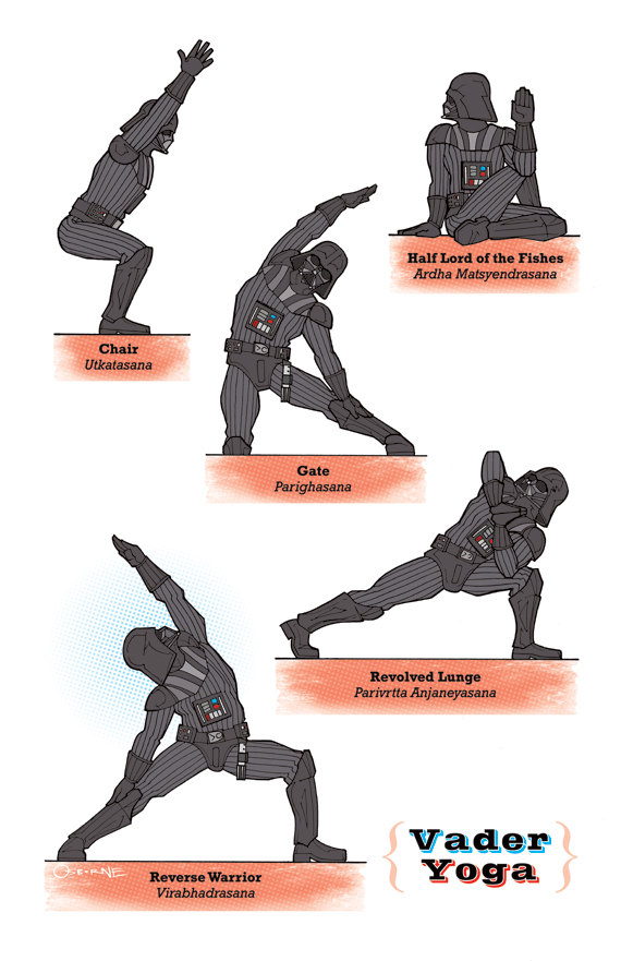 Star Wars yoga Darth Vader