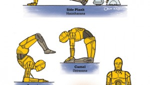 Star-Wars yoga Droid