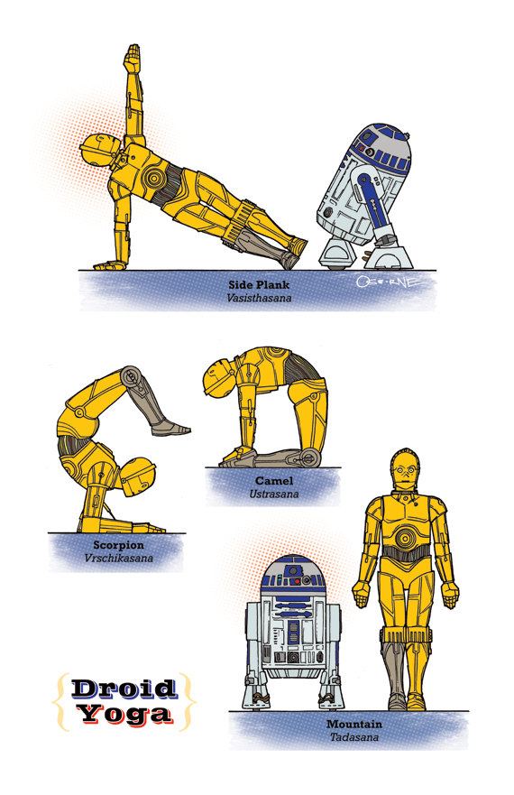 Star-Wars yoga Droid