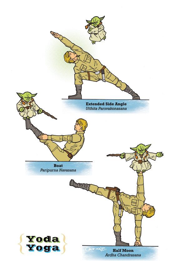 Star Wars yoga Yoda