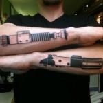 Star Wars Lightsaber tattoos