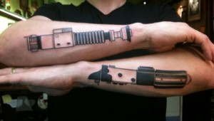 Star Wars Lightsaber tattoos
