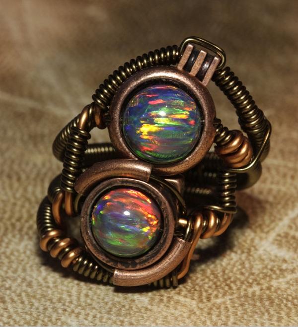 steampunk ring eyes