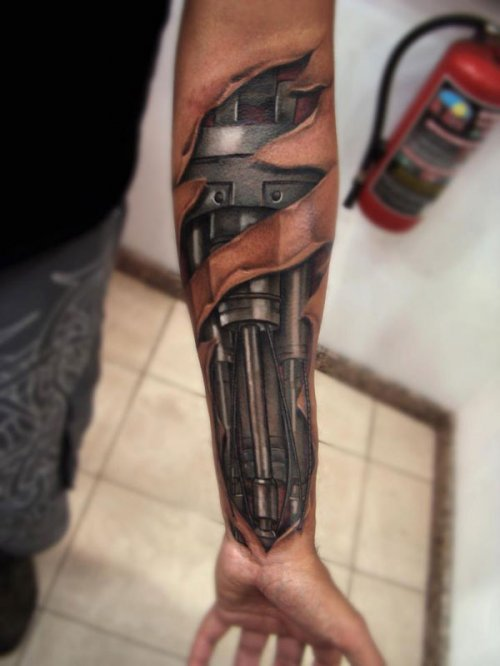 cyborg-arm-tattoo