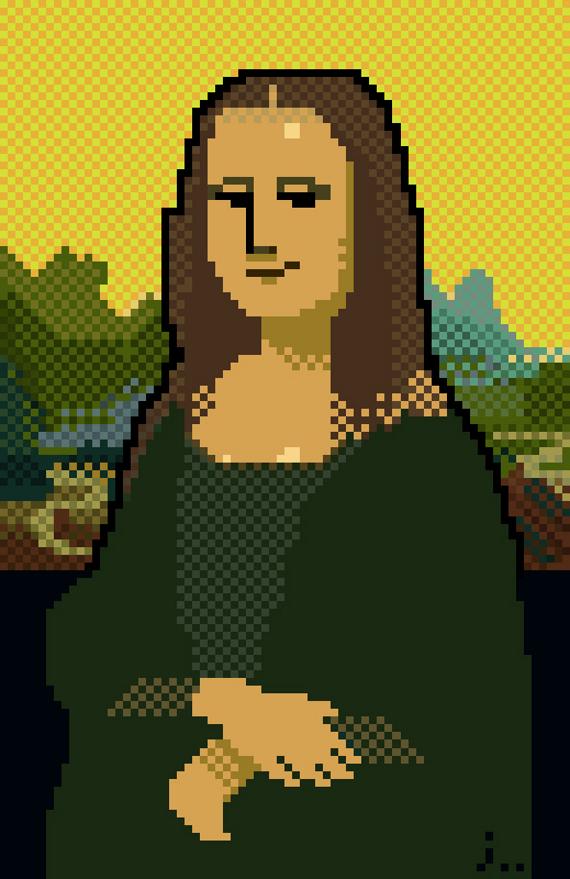 8 bit da Vinci painting