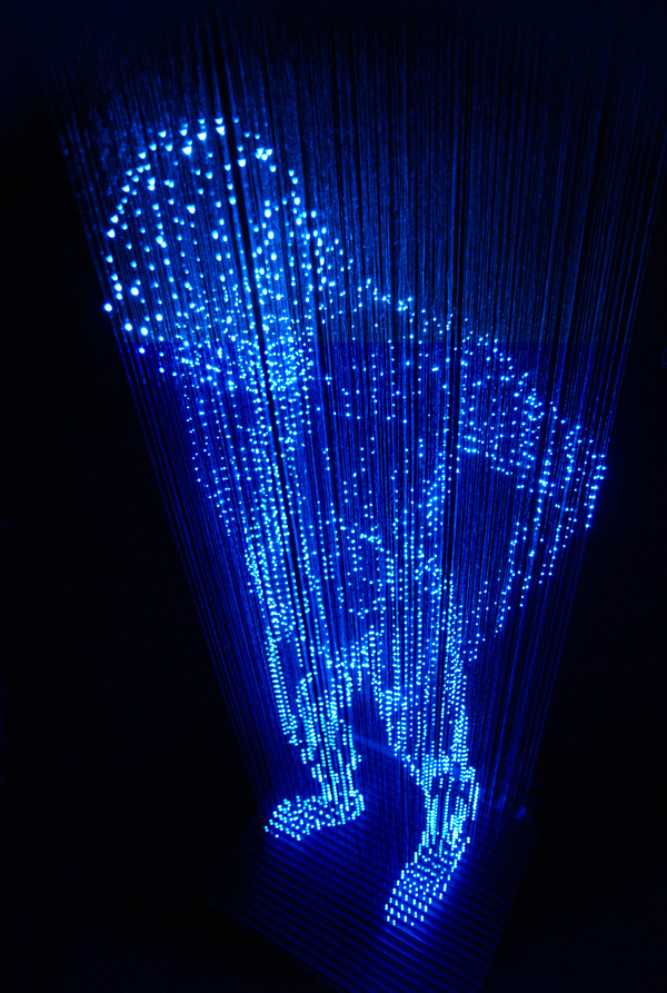 Hologram man close-up