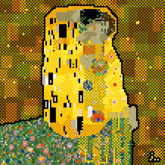 8-bit Klimt painting