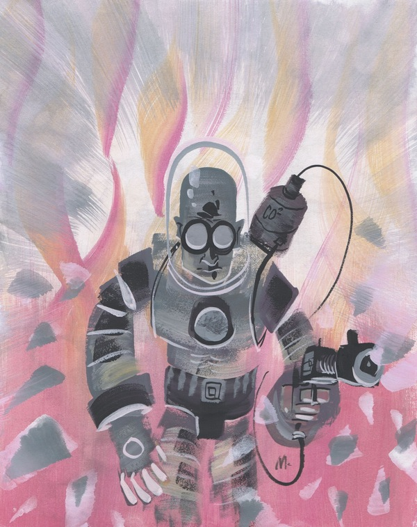 Mr. Freeze painting