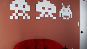Papercraft Space Invaders