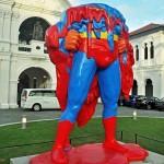 superman sculpture