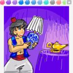 Aladdin draw something
