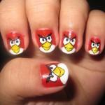 Angry birds nail art 2