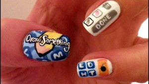 Draw something nail art