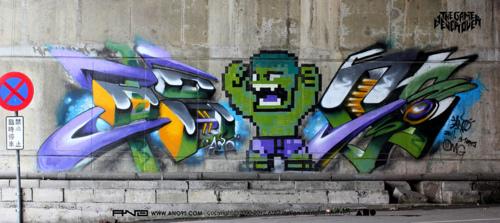 Hulk-8bit-graffiti